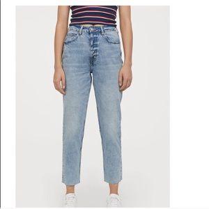 H&M boyfriend slim mom jeans